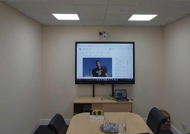 Board room display screen
