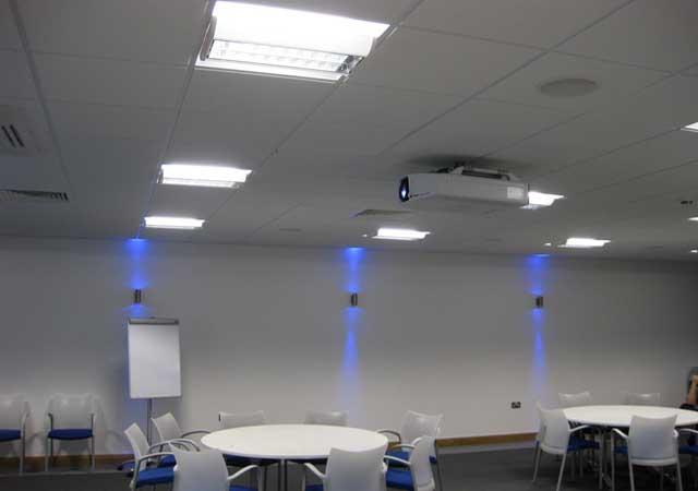 Board room projector installation