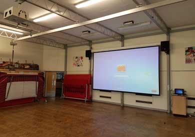 School Hall Projector Screen